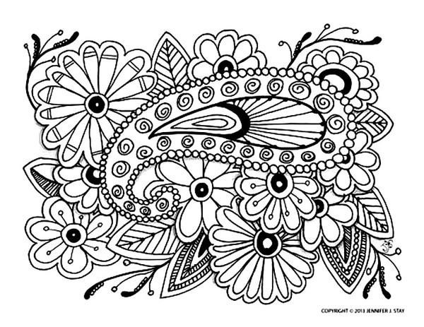 Coloriage adulte zen - Coloriage relief ...