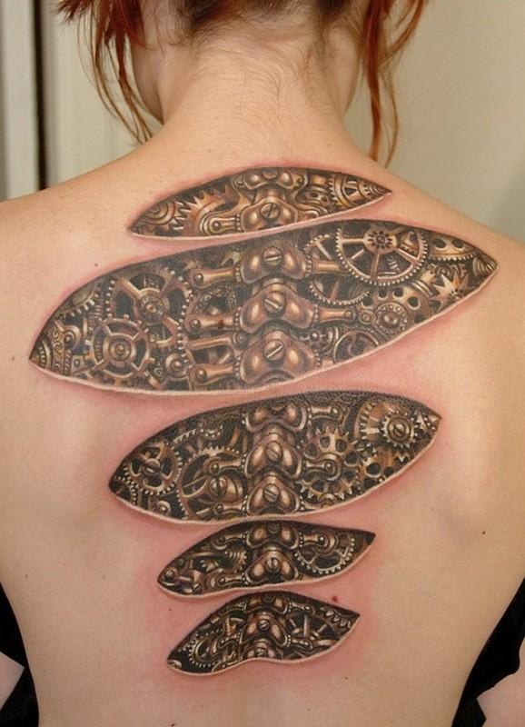 Tatouage Dos Femme