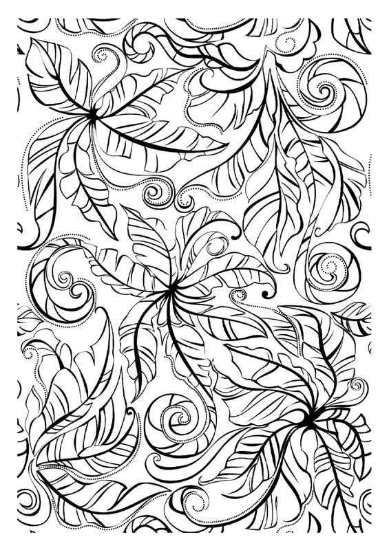Coloriage adulte zen - Dessin vegetation ...